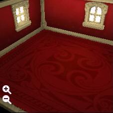 ハウジング_瓦屋根の石の家+高級な蘭模様