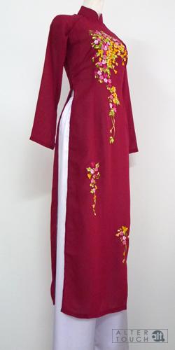 アオザイ ジョーゼット刺繍