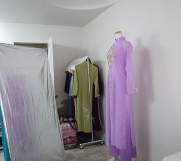 刺繍アオザイの撮影