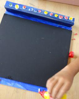黒板でこでこ