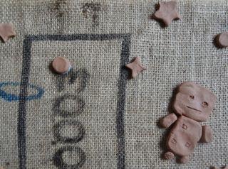 麻と粘土・まき2