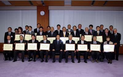 2011年岐阜市優良建設工事業者表彰集合写真