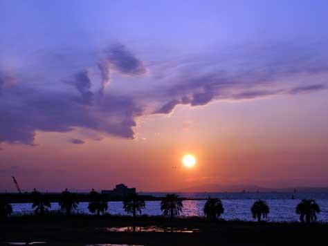 舞洲の夕日