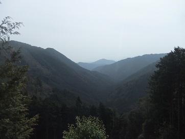 寂光院への山道