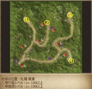 赤い精霊の森MAP