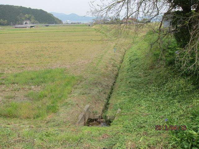 草刈り後の水路