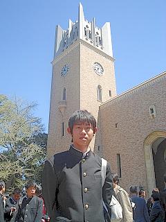 長男入学式