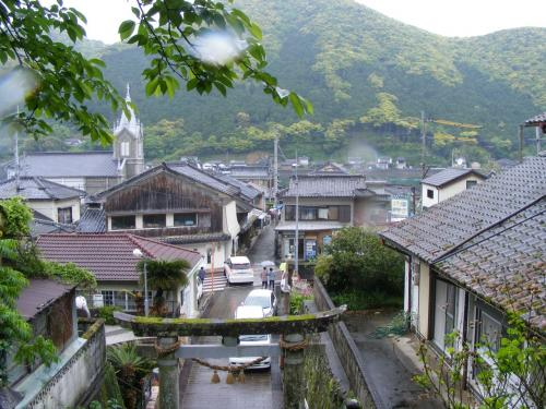 崎津教会裏の神社