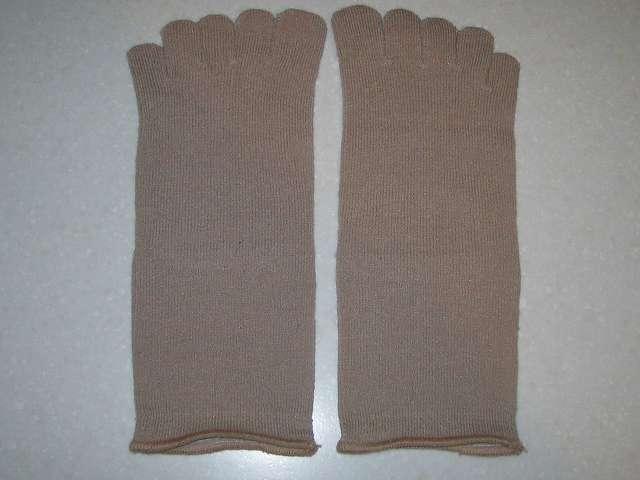 冷えとり靴下の 841(ヤヨイ) シルクインナーソックス 足の甲側