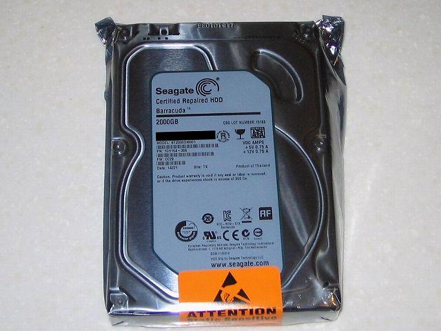 Seagate HDD RMA 静電防止袋に封入された 交換品 HDD