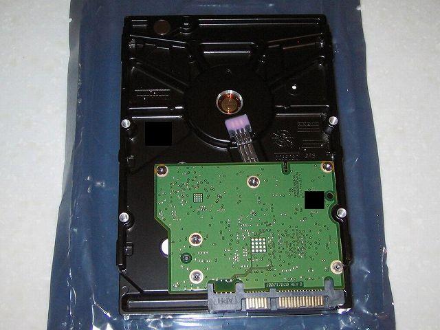 Seagate HDD RMA 交換品 HDD 裏面
