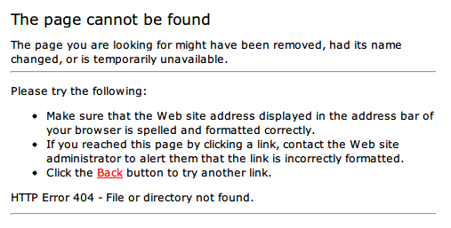 Seagate Webサイト表示エラー - The page cannot be found