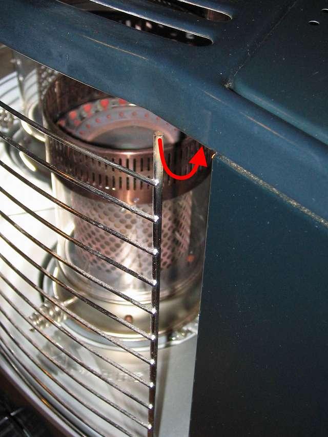 TOYOTOMI トヨトミ 石油ストーブ RS-S23C(B) ガード 取り付け右上すみセット