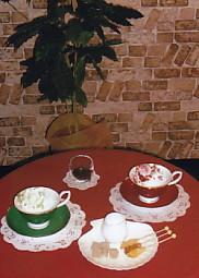 コーヒーの木と綺麗なカップ