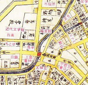 古地図・香林坊付近
