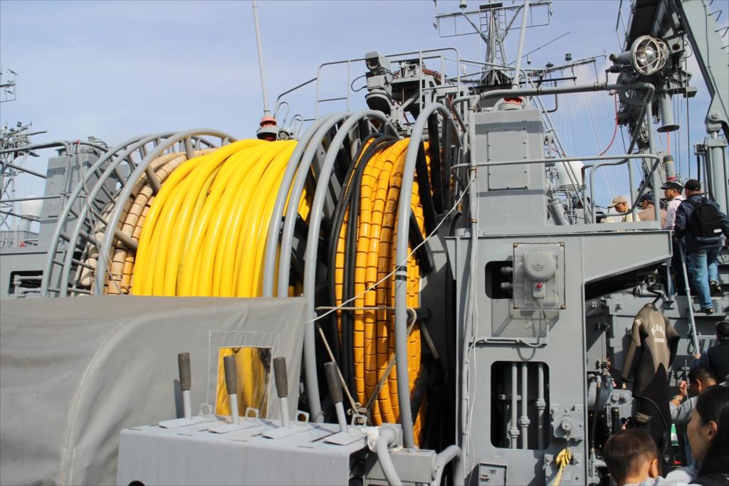 曳航掃海具巻揚装置