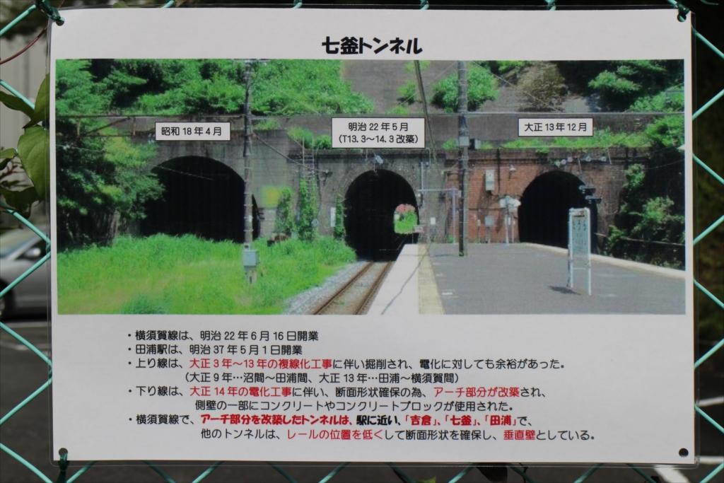 七釜トンネルの説明