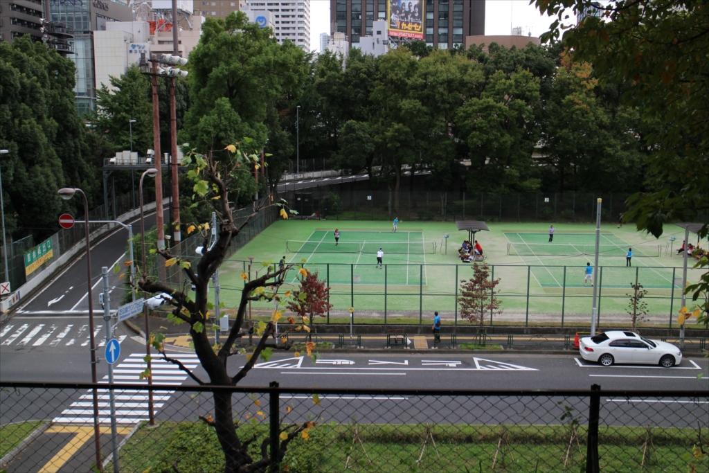 芝公園のテニスコート_2