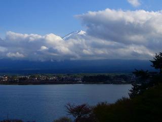 お宿から見た富士山