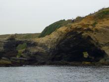 海から見た馬の背洞門