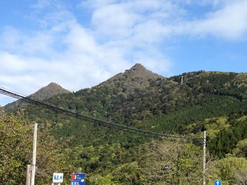 風返し峠から筑波山