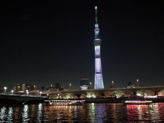 東京スカイツリー 桜ライティング(3)
