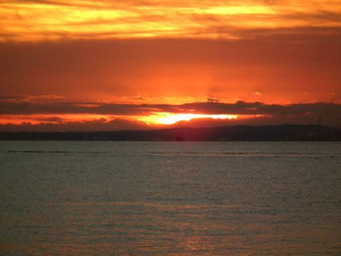 大黒埠頭海釣り公園から見た、初日の出(2)