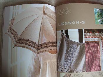刺繍ステッチ日傘