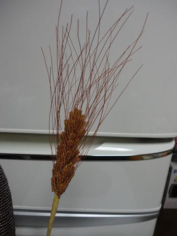 2014年麦とガマの穂と落ち葉⑤