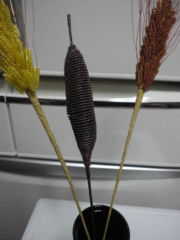 2014年麦とガマの穂と落ち葉④
