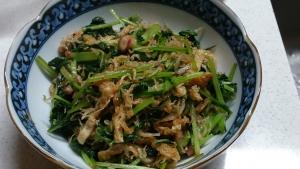 2013-11-1 大根葉と油揚げジャコの炒め物