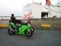 サンフラワーとバイク