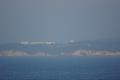 船から九州を見て