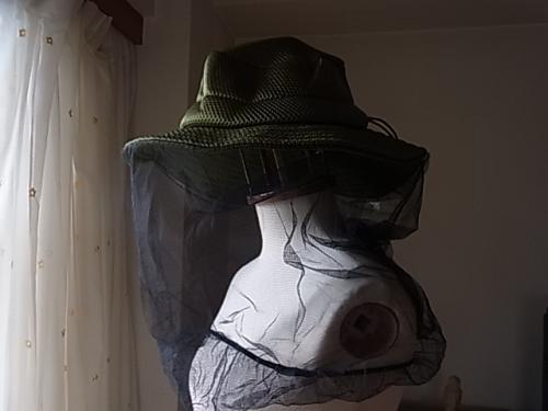 蚊よけ帽子