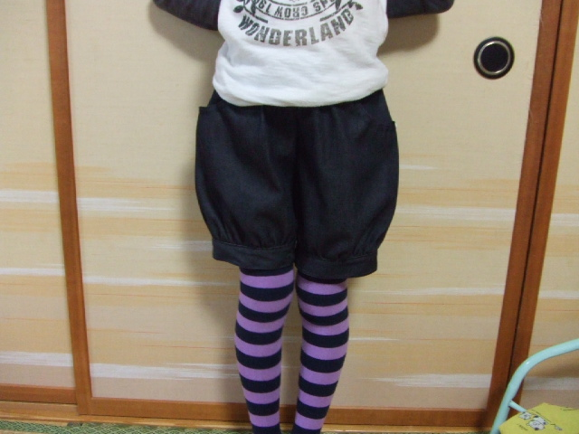 かぼちゃパンツ②着画