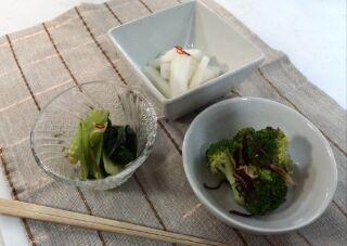 朝霞の野菜で3品