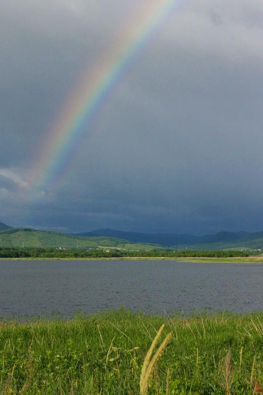 シブノツナイ湖の朝