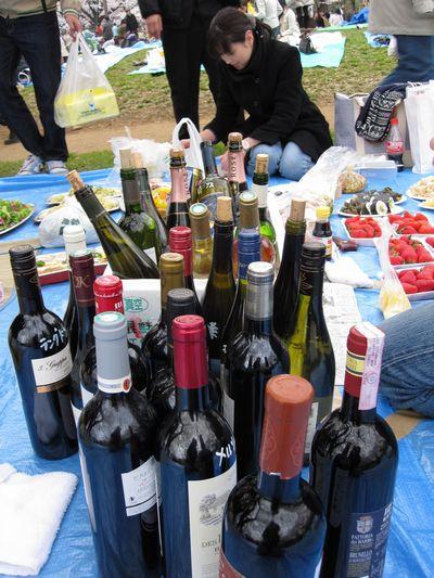 沢山のワイン