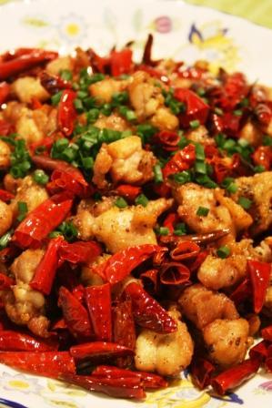 コピー ~ 鶏肉の赤唐辛子と花椒の香り炒め