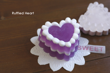 ruffled heart