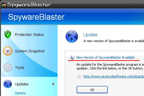 SpywareBlaster 更新①