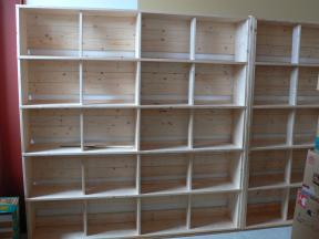 書棚を手作り中!