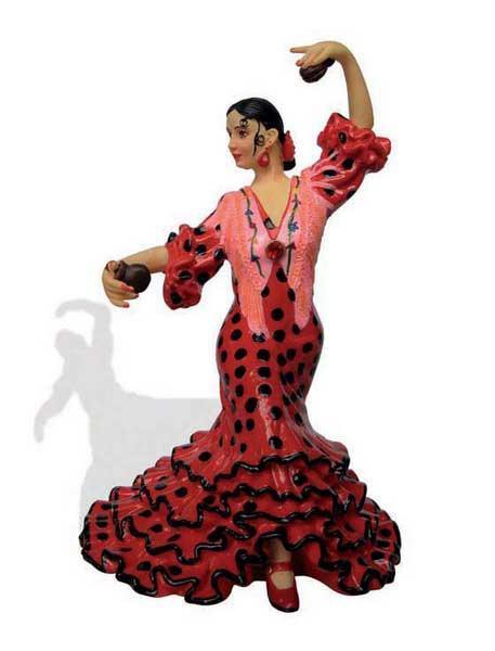 人形 フラメンコダンサー(レッド ブラック)