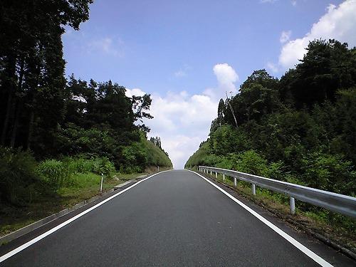 山道の滑走路