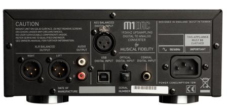 MUSICAL FIDELITY M1 DAC REAR