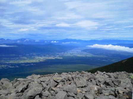 諏訪湖と北アルプス