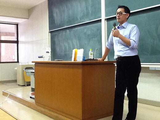 岩崎一郎氏の下関市立大学での講演(10月3日)