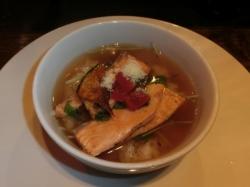 即興料理:西洋風茶漬け(コンソメスープ)