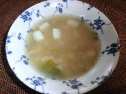野菜とシーフードのスープ
