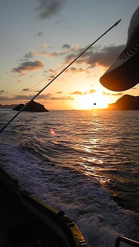 浦島からの夕日